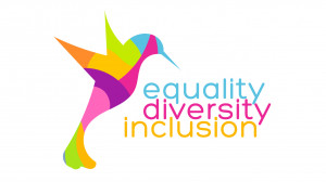 Equality, Diversity, Inclusion NHS logo.