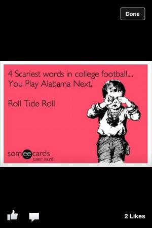 Alabama Football Quotes Funny, Alabama Football Baby, Alabama Football ...