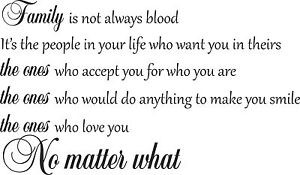Family-Is-Not-Always-Blood-Quote-Wall-Art-Sticker-Wall-Stickers-Wall ...
