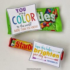 ... Colorful, Random Gifts of Kindness with Starburst and Skittles More