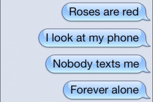 alone, forever alone, funny, loner, messages, phone, quotes, red ...