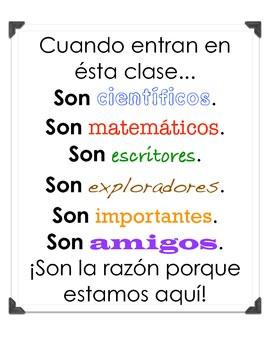 Spanish Classroom Quotes