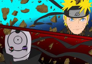 Naruto vs Tobi by giulsyeah