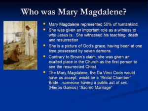 """... specifically, her marriage toJesus Christ"""" (Davinci Code..Pg. 244"""