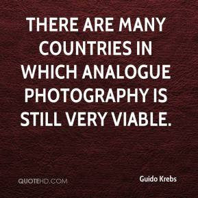 ... are many countries in which analogue photography is still very viable