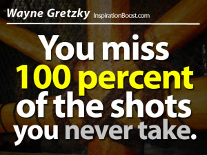 You Miss 100 Percent Of The Shots You Never Take - Action Quote