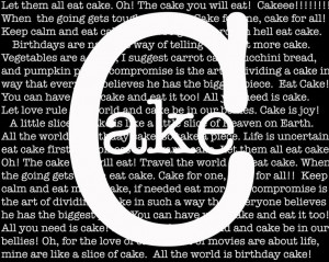 Cake...cake & more cake