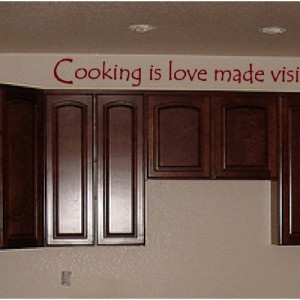 Love and cook...Kitchen Wall Words Quotes Sayings Lettering Decals Art