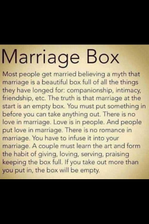 Marriage Box Inspirational Sayings