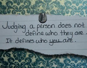 Being Judged Quotes & Sayings