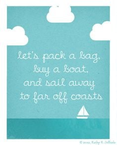 Travel Art Print - Nautical Art, Wanderlust, Sailing Around The World ...