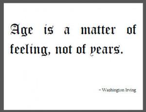 Washington Irving Quote on Age