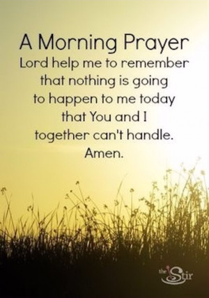 quotes about morning prayer