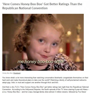 ... fact reveals. More people watched a regular episode of 'Honey Boo-Boo