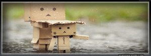 ... Timeline Covers : Cute rain Timeline Cover Danbo covering girl head