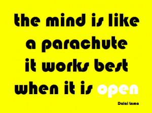 Dalai Lama Open Mind Quote