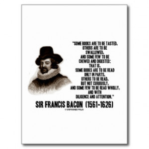 Sir Francis Bacon Books To Be Read Wholly Quote Postcards