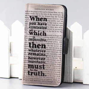 Home wallet case sherlock holmes book quotes movie wallet case for ...