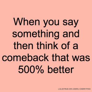 Good Comeback Quotes