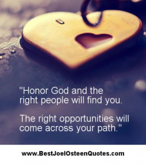 Joel Osteen Quote of the Day 1-26-15