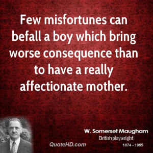 Few misfortunes can befall a boy which bring worse consequence than to ...