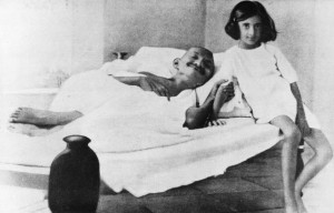 Gandhi Fasting A fast in 1924: with indira