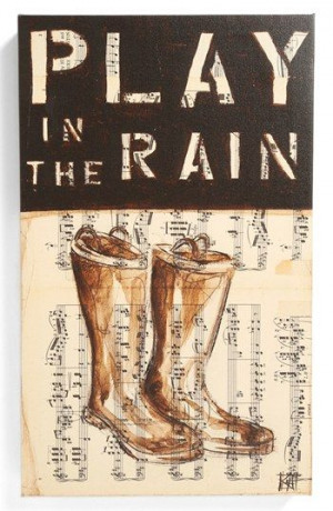 ... Inspiration - Third and Wall Art 'Play in the Rain' Sign | Nordstrom