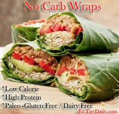 Low Carb Recipe – No Carb Wraps