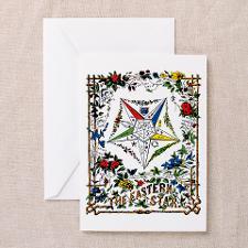 Vintage Eastern Star Signet Greeting Card for