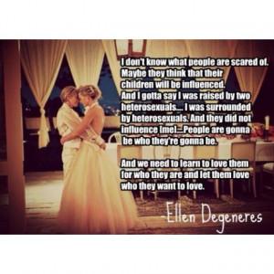 Ellen Degeneres' great quote