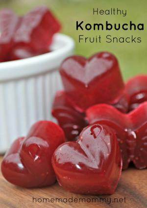 Healthy Kombucha Fruit Snacks via Homemade Mommy
