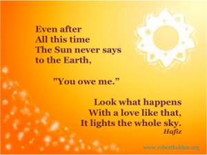 Shining Like the Sun ~ Lighting up Your Life