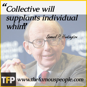 Collective will supplants individual whim