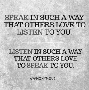 Speaking and listening.