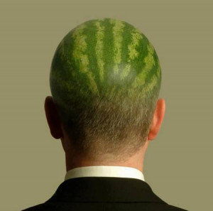 Watermelon Head Funny Man