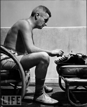 Mr. William Faulkner... writing on the go pre- laptops and tablets! :)