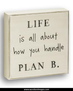 Plan b inspirational quotes