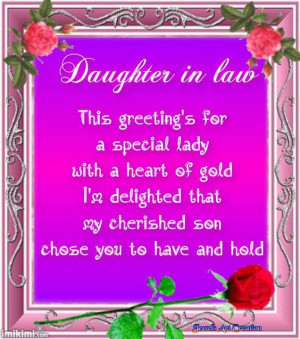 Daughter In Law Quotes For Facebook Daughter in law quote