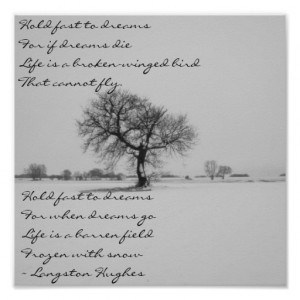 Dreams by Langston Hughes Poster