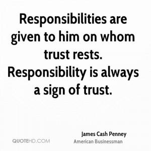 James Cash Penney Trust Quotes