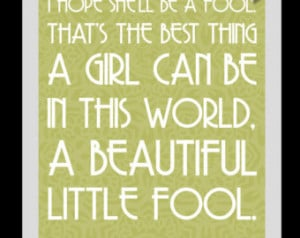 Great Gatsby Quote // Beautiful Lit tle Fool // Daisy Buchanan // Art ...