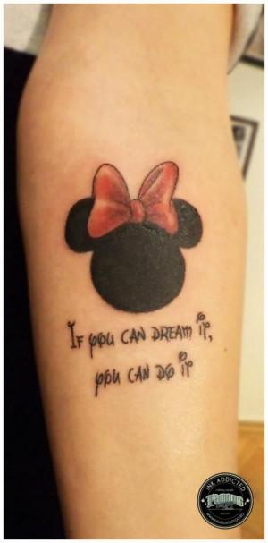 Disney Quote Tattoos Walt disney quote
