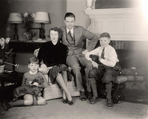 Lodge Henry Cabot Jr Senator and Family