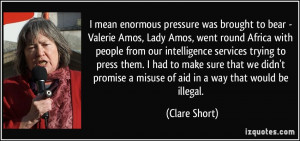 More Clare Short Quotes