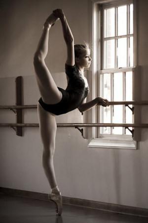 dance dancer ballet dancing ballerina pointe girl flexible back leg ...