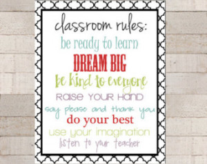 ... Appreciation - Classroom Rules - Teacher Rules - Class Quotes