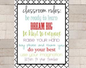 ... Appreciation - Classroom Rules - Teacher Rules - Class Quotes