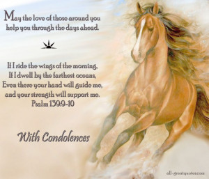 ... For Sympathy Cards. 1024 x 877.Sympathy Card For Death Of Horse