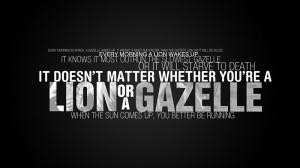 quotes lions motivation gazelle 1366x768 wallpaper Animals Lion HD