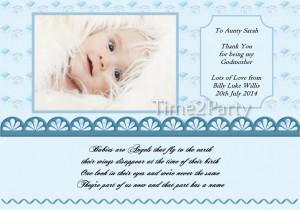 Personalised Christening Photo Poem Thank You Gift Godfather Godmother ...